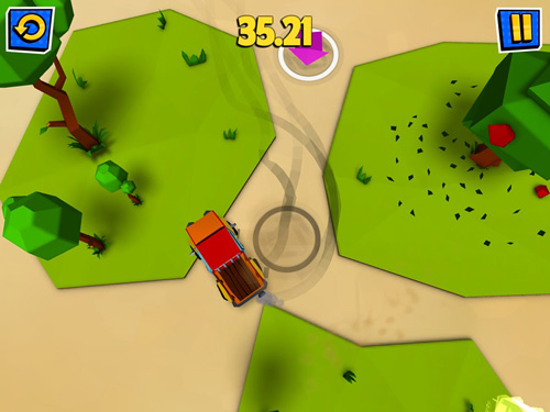 Screenshots of the Nifty drifty game for iPhone, iPad or iPod.