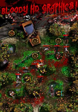 Screenshots vom Spiel Night of the Living Dead Defense für iPhone, iPad oder iPod.