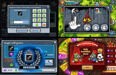 Écrans du jeu Nine Worlds pour iPhone, iPad ou iPod.