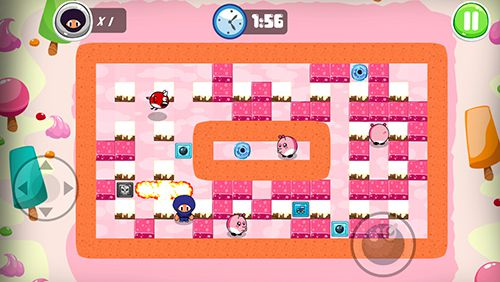 Descarga gratuita de Ninja boy adventures: Bomberman edition para iPhone, iPad y iPod.