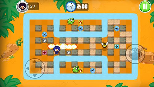 Capturas de pantalla del juego Ninja boy adventures: Bomberman edition para iPhone, iPad o iPod.