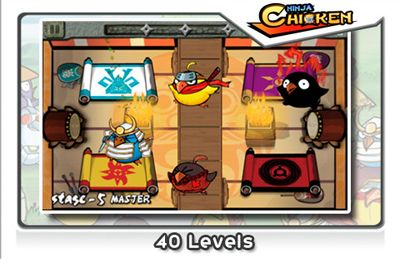 Screenshots of the Ninja Chicken game for iPhone, iPad or iPod.