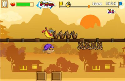 Screenshots of the Ninja Chicken 3: The Runner game for iPhone, iPad or iPod.