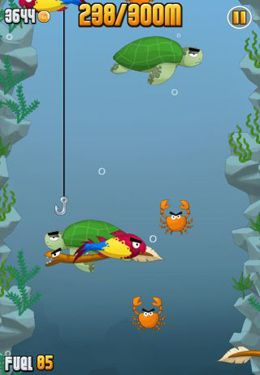 Capturas de pantalla del juego Ninja Fishing para iPhone, iPad o iPod.