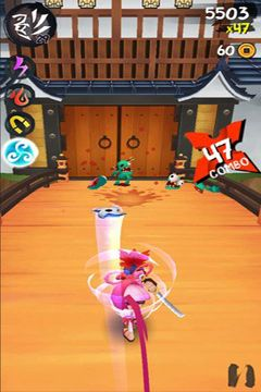 Screenshots do jogo Ninja Slash para iPhone, iPad ou iPod.