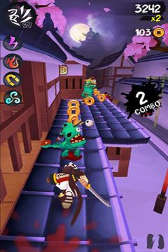 Capturas de pantalla del juego Ninja Slash para iPhone, iPad o iPod.