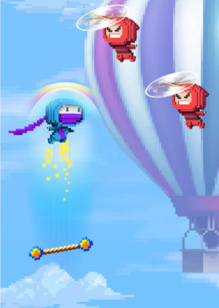 Screenshots of the Ninja up! game for iPhone, iPad or iPod.