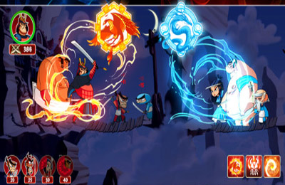 Screenshots vom Spiel Ninjas vs Samurai Epic Castle Defense für iPhone, iPad oder iPod.