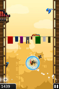 Capturas de pantalla del juego NinJump Deluxe para iPhone, iPad o iPod.
