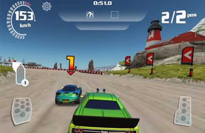 Геймплей Nitro Racing Highways для Айпад.