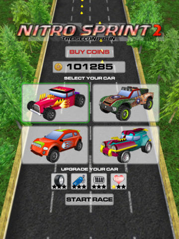 iPhone、iPad 或 iPod 版Nitro Sprint 2: The second run游戏截图。