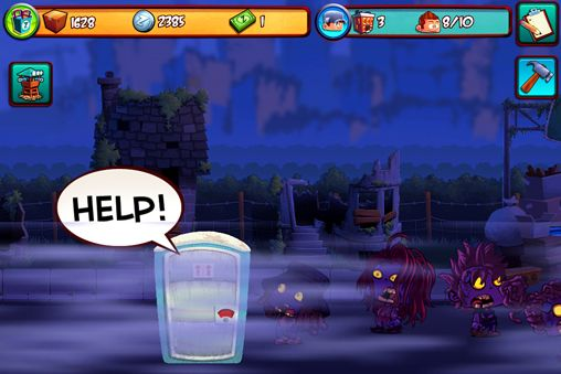 Screenshots vom Spiel No zombies allowed für iPhone, iPad oder iPod.