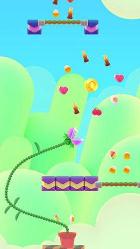 Screenshots of the Nom plant game for iPhone, iPad or iPod.
