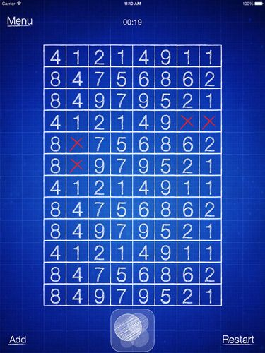 Free Numbers puzzle download for iPhone, iPad and iPod.