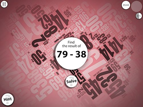 Screenshots of the Numerity game for iPhone, iPad or iPod.