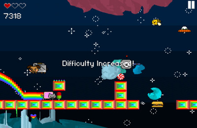 Free Nyan Cat Adventure download for iPhone, iPad and iPod.