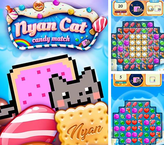 Download Nyan cat: Candy match iPhone free game.