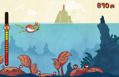 Screenshots of the Ocean Rabbit game for iPhone, iPad or iPod.