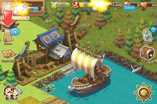 Screenshots of the Ocean tales game for iPhone, iPad or iPod.