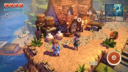 Screenshots do jogo Oceanhorn para iPhone, iPad ou iPod.
