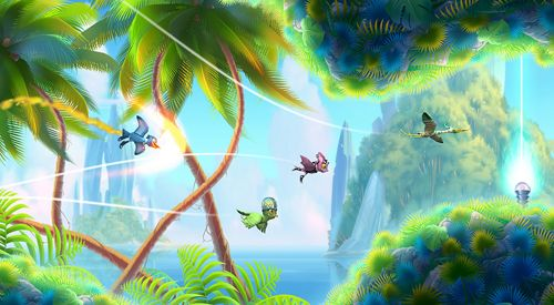 Capturas de pantalla del juego Oddwings escape para iPhone, iPad o iPod.