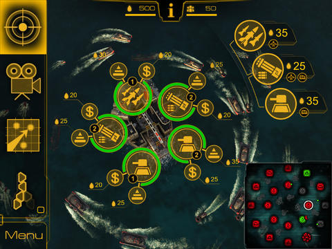 Screenshots vom Spiel Oil Rush: 3D Naval Strategy für iPhone, iPad oder iPod.