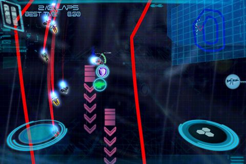 Screenshots of the Omega: X racer game for iPhone, iPad or iPod.