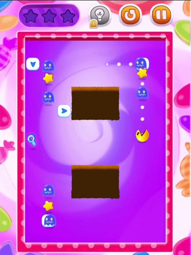 Screenshots of the Pac man bounce game for iPhone, iPad or iPod.
