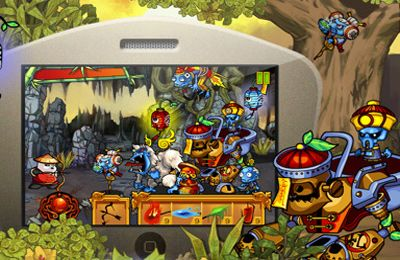 Capturas de pantalla del juego Panda Warrior: Zombie king's treasure para iPhone, iPad o iPod.