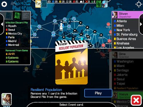 Écrans du jeu Pandemic: The board game pour iPhone, iPad ou iPod.