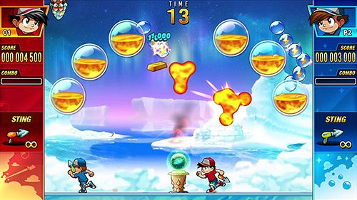 Capturas de pantalla del juego Pang adventures para iPhone, iPad o iPod.