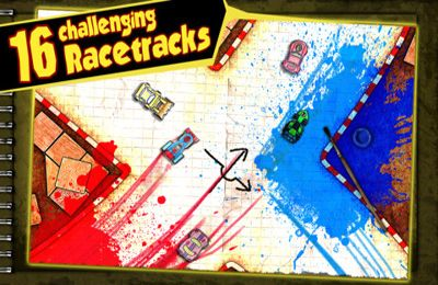 Screenshots of the Paper Racer game for iPhone, iPad or iPod.