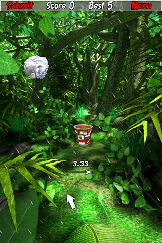 Screenshots vom Spiel Paper toss: World tour für iPhone, iPad oder iPod.