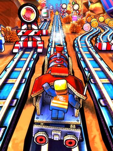 Free Paper train rush download for iPhone, iPad and iPod.