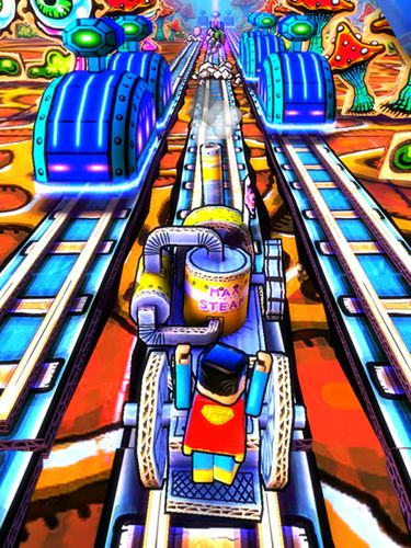 Screenshots of the Paper train rush game for iPhone, iPad or iPod.