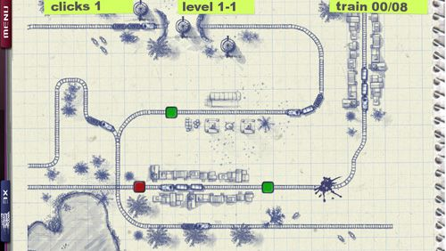 Screenshots of the Paper train: Traffic game for iPhone, iPad or iPod.