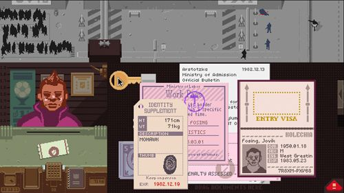 Écrans du jeu Papers, please pour iPhone, iPad ou iPod.