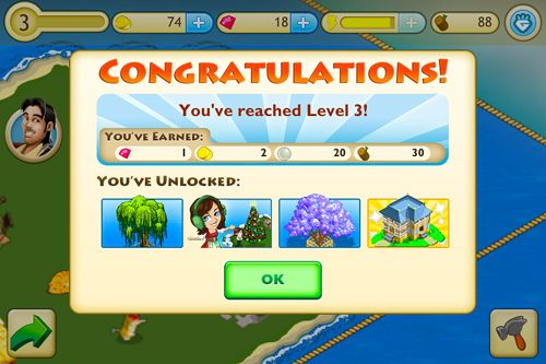 Screenshots of the Paradise cove game for iPhone, iPad or iPod.