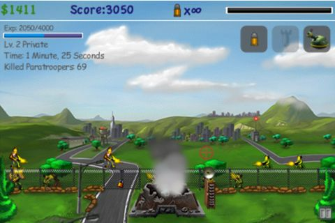 Screenshots of the Paratroopers: Air assault game for iPhone, iPad or iPod.