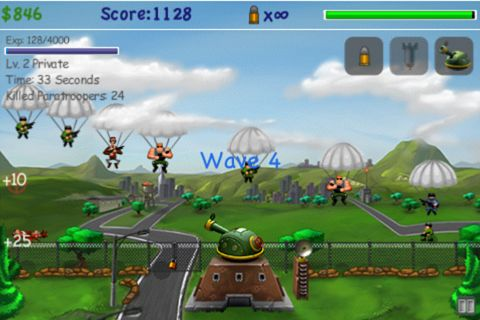 Screenshots vom Spiel Paratroopers: Air assault für iPhone, iPad oder iPod.
