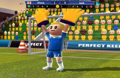 Screenshots vom Spiel Perfect Kick für iPhone, iPad oder iPod.