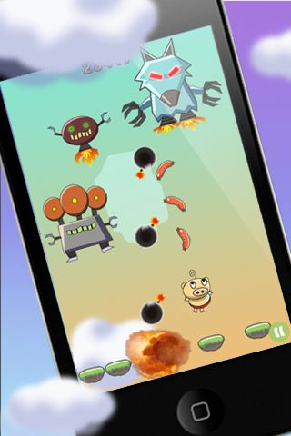 Capturas de pantalla del juego PigJump para iPhone, iPad o iPod.