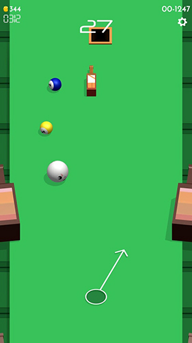 Screenshots of the Pin pool game for iPhone, iPad or iPod.