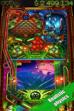 Screenshots vom Spiel Pinball HD for iPhone für iPhone, iPad oder iPod.