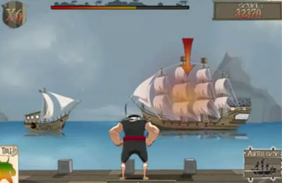 Скріншот гри Pirate : Cannonball Siege на Айфон.