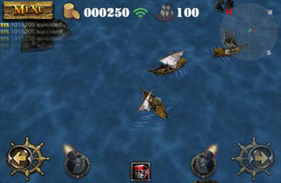 Screenshots of the Pirates 3D Cannon Master game for iPhone, iPad or iPod.