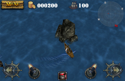 Écrans du jeu Pirates 3D Cannon Master pour iPhone, iPad ou iPod.