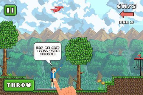 Игра Pixel disc golf для iPhone