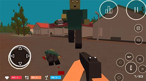 Screenshots of the Pixel Z: Gun day game for iPhone, iPad or iPod.
