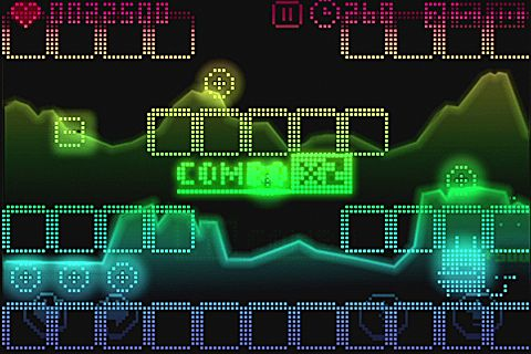 Screenshots of the Pix'n love rush game for iPhone, iPad or iPod.